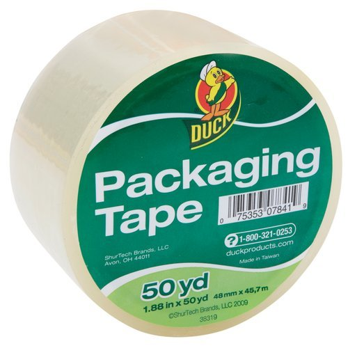 Duck Brand - Duct Packaging Packing Carton Shipping Tape, 1.