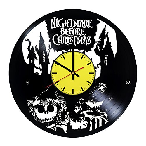 Nightmare Before Christmas Halloween Town Wall Clock - Get unique room wall decor - Gift ideas boys and girls – Interior Decor Unique Modern Art -