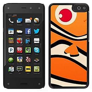 EJOY---Cubierta de la caja de protección para la piel dura ** Amazon Fire Phone ** --Happy Fish Neo Océano Naranja Patrón