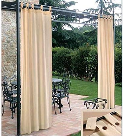 Cortina parasol con soportes, con capa de resina, repelente al agua, para carpa, 150 x 280 cm (alto)