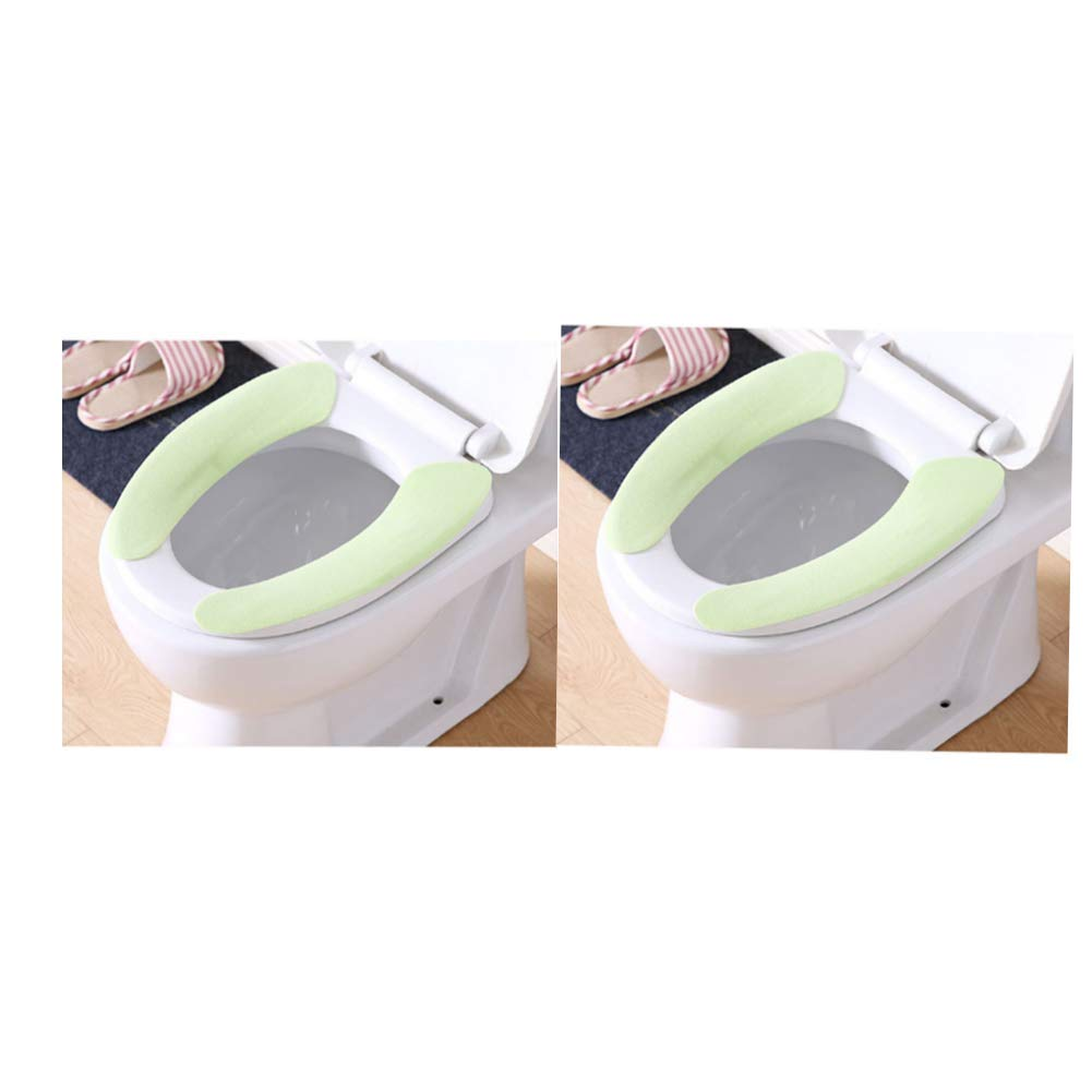 Blue DADA Toilet Seat Cushion,Adult Pad Cover Washable Stickers Toilet Seat Cover Universal,2 Pairs