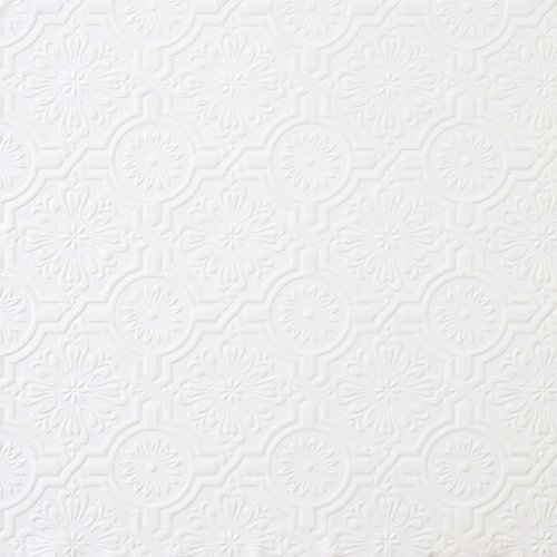 (Brewster 148-32817 Paintable Solutions III Victorian Tin Ceiling Paintable Wallpaper)