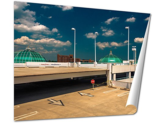 Ashley Giclee Fine Art Print, Parking Garage And Domes On The Roof Of Towson Town Center Mary, 16x20, - Maryland Mall Towson