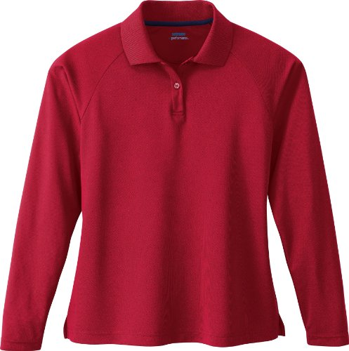 Extreme Womens Long Sleeve Eperformance Piqué Polo (75061) -CLASSIC RED -L