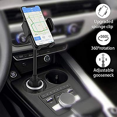 Car Cup Holder Phone Mount, Universal Adjustable Gooseneck Cup Holder Cradle Car Mount for Cell Phone iPhone 11/ X/Xs/XR/Xs Max/8/8Plus/7/6s/SE,Galaxy S10/S9/S8/S7/Note 8 9,LG, Nexus, Sony, Nokia