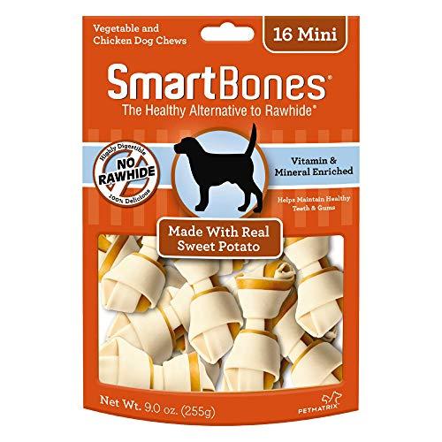 SmartBones Sweet Potato Dog Chew, Mini, 16 pieces/pack
