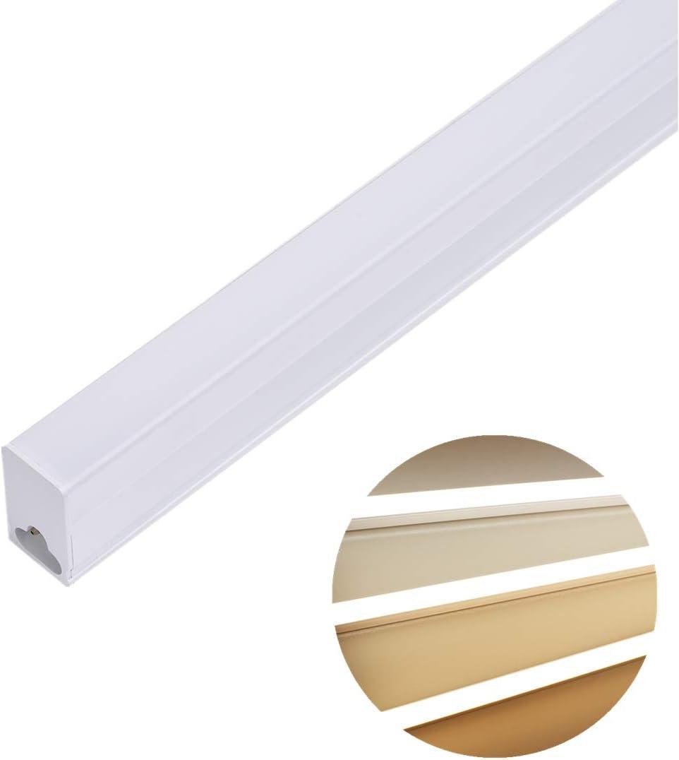 L/ámpara de Tubo LED para Cocina Garaje Oficina Ba/ño Tubo LED 90CM Luz de Techo 14W 3100lm Tricolor Regulable 3000-6500K Blanco C/álido-Neutro-Fr/ío Luz del Gabinete Clase de eficiencia energ/ética A++