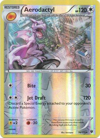 Pokemon - Aerodactyl (76/124) - XY Fates Collide - Reverse Holo (Pokemon Aerodactyl)