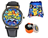 Pokemon Unisex Quartz Analog Wrist Watch & Drawstring Gym/School/Shoes Bag. Luminous Watch Hands. (2)