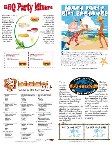 Printable BBQ Party Games Pack for Mac [Download]