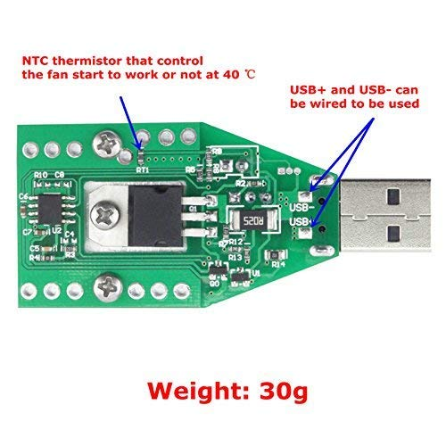 Mini USB 0.15A-3A Electronic Load Tester Module Adjustable Constant Current for 3.7V~13V 15W Continuous Discharge Intelligent Discharge Resistance Ageing Discharger Power Bank Tester