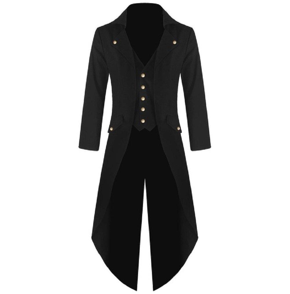 Karlywindow Men's Gothic Tailcoat Victorian Costume Steampunk Jacket by Karlywindow (Image #1)