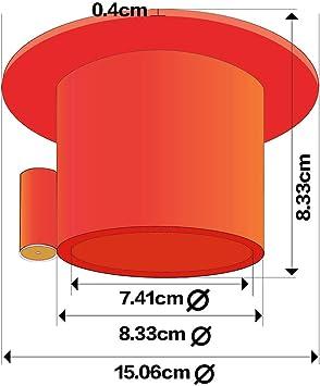 Cerradura de Acero para Remolque de 5/ª Rueda OKLEAD Color Rojo con Etiqueta de precauci/ón de Color Amarillo Brillante 2 Llaves