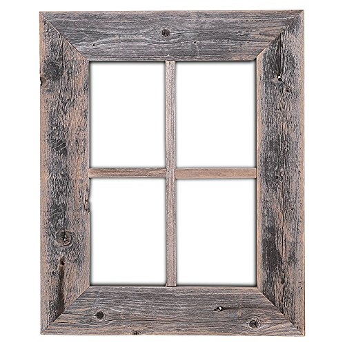 Window wall decor amazon old rustic window barnwood frames not for pictures by rustic decor ppazfo