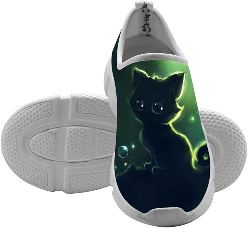 QsvMo cat Boy Shallow Flats Casual Shoes 3D Sneaker