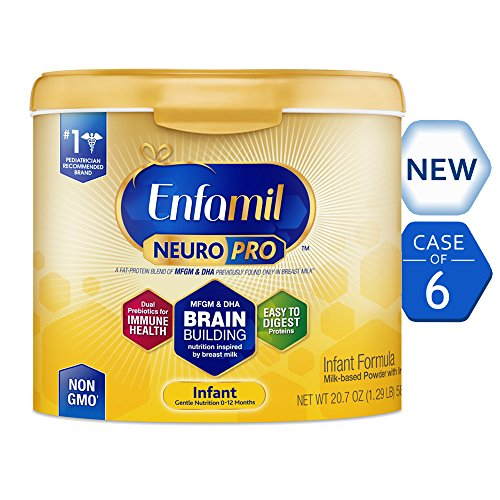 Image of the Enfamil NeuroPro Infant Formula - Brain Building Nutrition Inspired by Breast Milk - Reusable Powder Tub, 20.7 oz (Pack of 6)