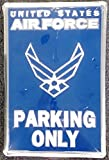 Air Force BLUE 12''x18'' Metal Embossed Parking Sign US United States Military