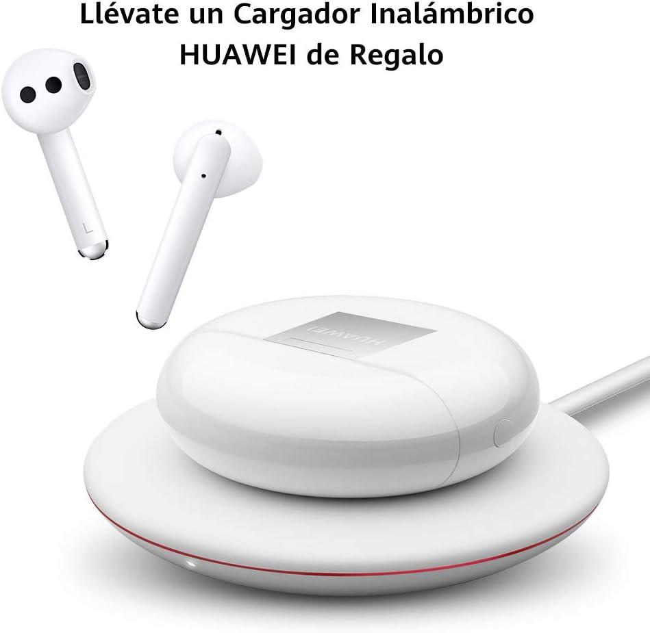 HUAWEI FreeBuds 3 - Auriculares inalámbricos con cancelación de Ruido Activa (conexión Bluetooth ultrarrápida, Altavoz de 14 mm, Carga inalámbrica), Color Blanco