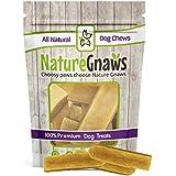 Nature Gnaws Medium Himalayan Yak Chews 4-5 inch (4 Pack) - 100% Natural Premium Dog Chews - No Salt Added - Great for Medium Dogs & Average Chewers