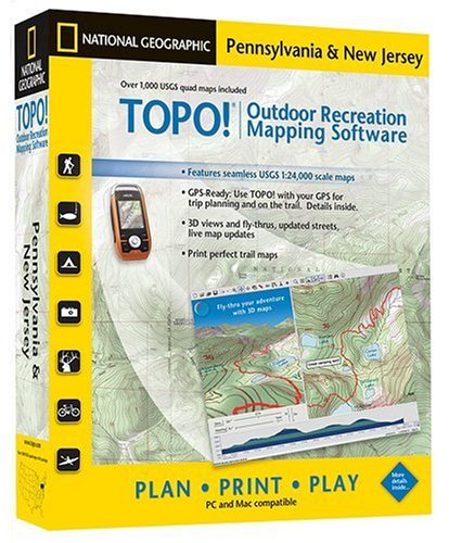 TOPO! Outdoor Recreation Mapping Software: Pennsylvania & New Jersey