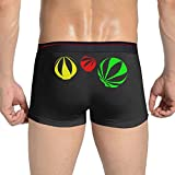 YWHmn Weed Leaf Men's Soft Underwear Trunks Basic Brief