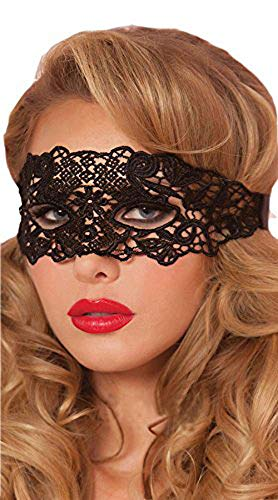Rehot White Black Lace Masquerade Masks for Party Prom Ball Mardi Gras Women (Black/Soft Version) for $<!--$7.99-->