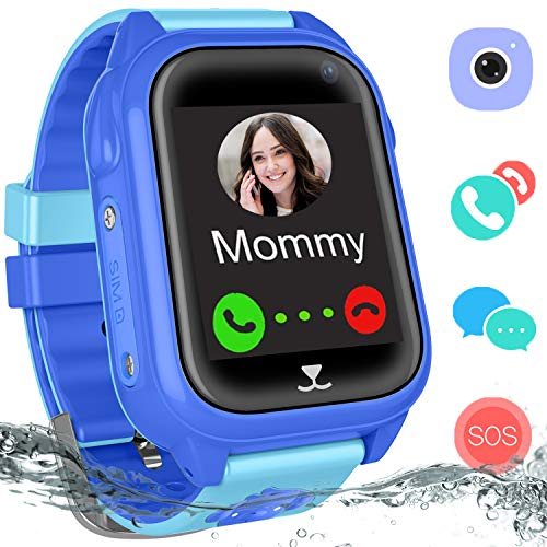 Waterproof GPS Tracker Watch Kids - IP67 Water-Resistant