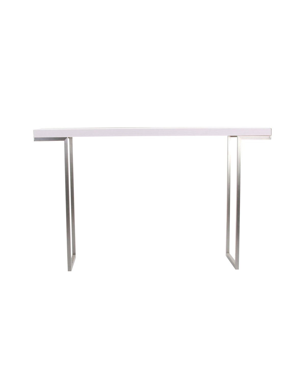 Moe s Home Collection 55 by 13-Inch Repetir White Lacquer Console Table