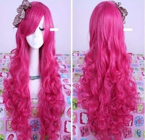 FidgetFidget My Little Pony Pinkie Pie Wig Apple Bloom Halloween Rose Costume+Free Wig Cap