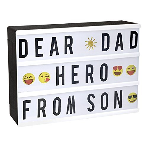 StillCool Cinematic Light Box with 90 Decorative Letters and Symbols A4 Size Wedding Home Birthday Party Decoration - USB Power (Black&White) -