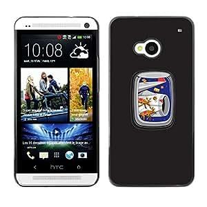 Caucho caso de Shell duro de la cubierta de accesorios de protección BY RAYDREAMMM - HTC One M7 - Navidad plano de aire de ventana divertido