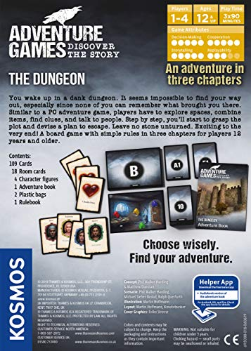 Adventure Games: The Dungeon - A Kosmos Game from Thames & Kosmos | Collaborative, Replayable Storytelling Gaming Experience for 2 To 4 Players Ages 12+