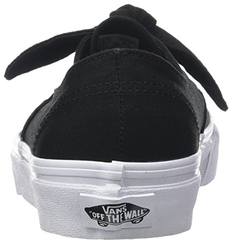 Knotted Vans Authentic Baskets Femme canvas Noir qq5rSdwn