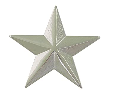 3287f831ad5 Amazon.com: 3D 5 Point Silver Star Lapel Pin (1 pack): Jewelry