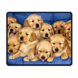 Cute Golden Retriever Puppy Office Rectangle Non-Slip Rubber Mouse Pad Entertainment Gaming Mouse Pad for Laptop Displays Tablet Keyboard