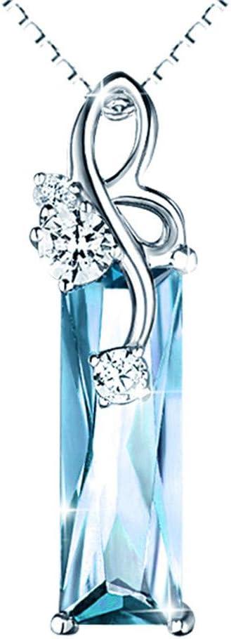 Collares Pendientes De Piedras Preciosas De Aguamarina Mujeres Oro Blanco Plata Color Gargantilla Cadena Argent Joyería Cristal