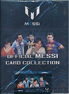 Lionel Messi Official Card Collection Starter Kit with Collectors Binder that holds up to 126 Cards! Includes Foil Pack to Start your Collection & A Chance to Win Messi Match-Worn Shirt worth $15,000!
