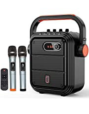 JYX Karaoke Speaker with Microphone Portable Bluetooth Speaker Karaoke Set Rechargeable PA System with FM Radio, Audio Recording, TWS, Remote Control, Supports TF Card/USB