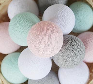 20 Baumwolle Kugel Lichterkette Stoff Ball Zuhause Schlafzimmer ...