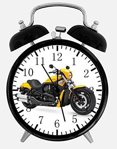 American Motorcycle Alarm Desk Clock 3.75