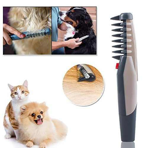 gogil Electric Pet Dog Grooming Comb Cat Hair Trimmer Knot Out Remove Mats Tangles Tool Supplies ()