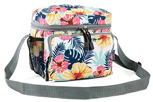 Everest Cooler/Lunch Pattern Bag Travel Tote, Tropical, One