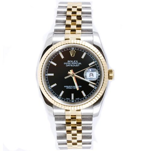 Rolex Mens New Style Heavy Band Stainless Steel & 18K Gold