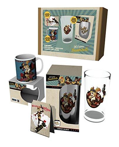 DC Comics DC Bombshells Gift Box Harley Quinn Calici Tazze ()