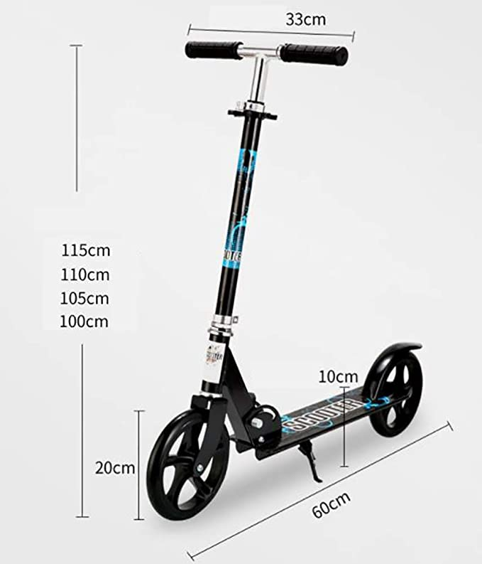 Aocean Scooter Ruedas Grandes,200 mm Patinete para Adultos ...