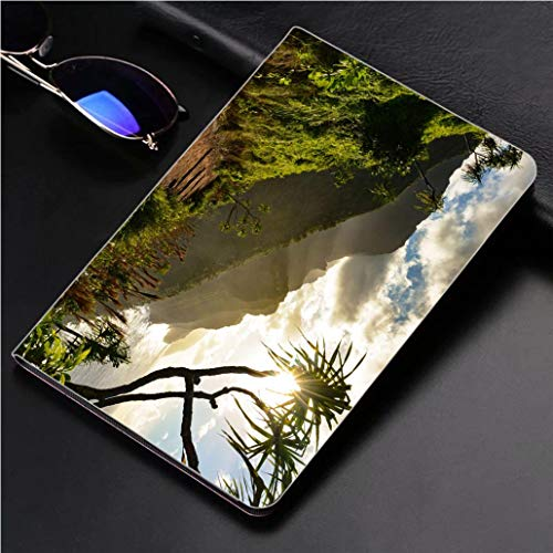 (Compatible with 3D Printed iPad Pro 10.5 Case Beautiful Na Pali Coast Sunset from The Kalalau Trail on Kauais North Shore 360 Degree Swivel Mount Cover for Automatic Sleep Wake up ipad case)