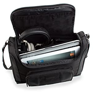 Protective Scanner Portable Carrying Case with Removable Shoulder Strap and Accessory Storage Pockets by USA Gear - Works With VuPoint , Fujitsu , Canon and more Portable Scanners