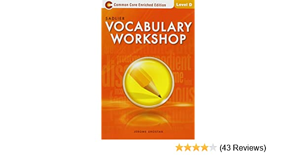 Vocabulary Workshop Enriched Edition Student Edition