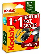 Kodak Fun Flash Single Use Camera, 1+1 Pack - Cámara (1+1 Pack)