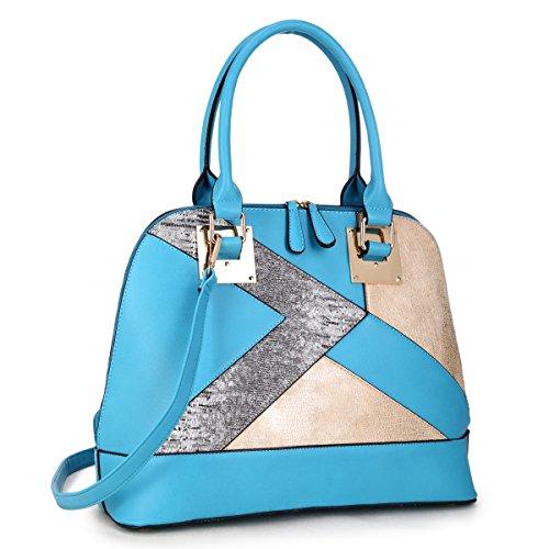 - Snake Skin Patchwork Women Designer Handbags Vegan Leather Satchel Bags Shoulder Bags Purses